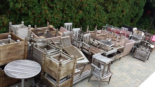 Pre shrink wrap furniture set up